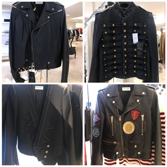9853d8e4f7 YSL leather jackets NWT